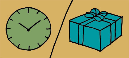 illustration of time vs. gifts