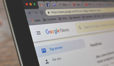 google news on a laptop computer